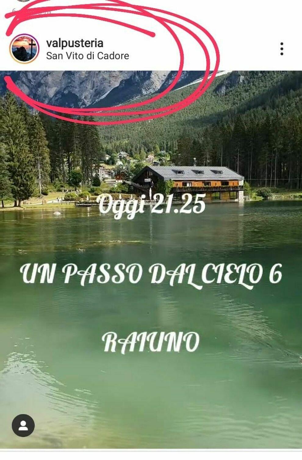 Fiction girata in Cadore non più a San Candido, ma pubblicizzata ancora  dalla Val Pusteria