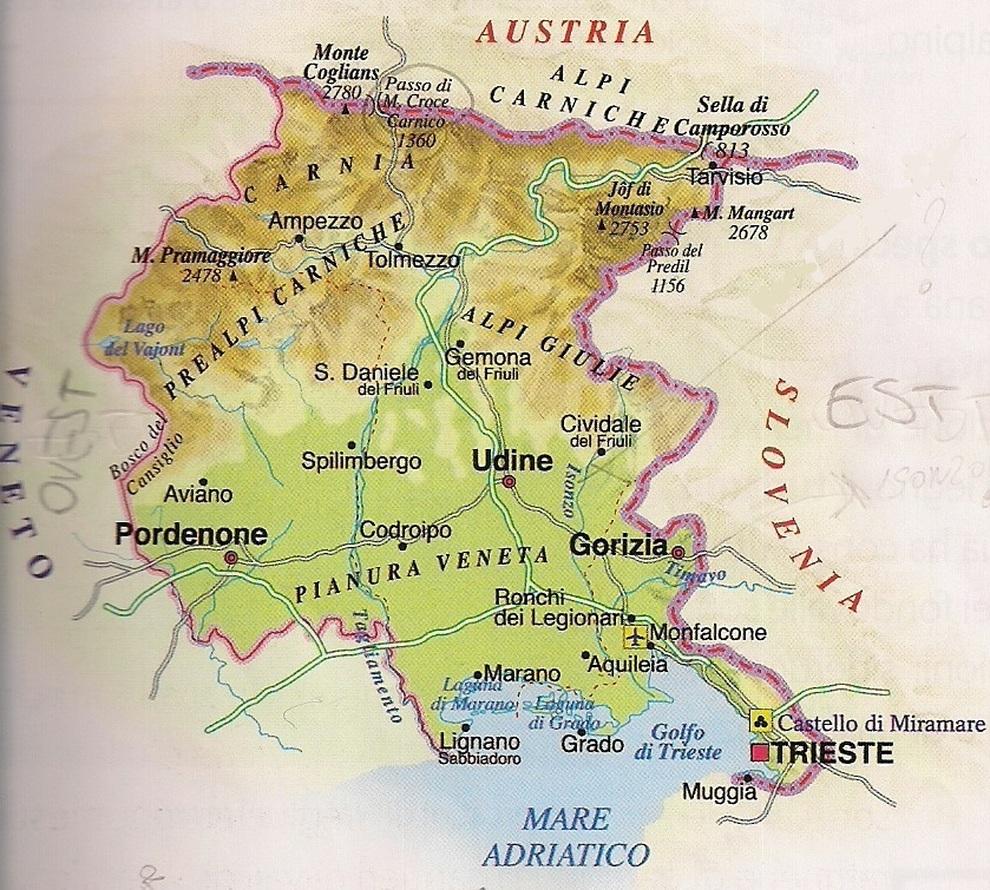 Cartina Italia Verona