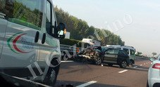 L'incidente (foto di un lettore)