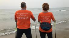 Nordic walking, in 1.500 da tutto il mondo per la camminata in riva al mare