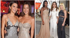 "Nella foto Naomi Campbell in passerella all'evento benefico ""Fashion for Relief"" di Cannes"