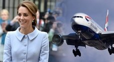 Kate Middleton e William, terrore in volo: l'aereo reale finisce in una tempesta di fulmini