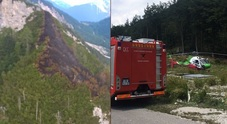 L'incendio in Val Dogna