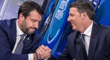 Renzi-Salvini in tv, duello su Quota 100 e scintille sui 49 milioni: «Ci dica come li ha spesi»
