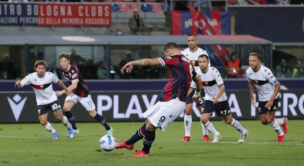 Bologna e Genoa si prendono un punto a testa, finisce 2-2 al Dall'Ara