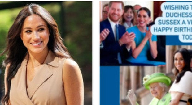 Meghan Markle compie 40 anni e arrivano gli auguri (striminziti) di Elisabetta, William e Kate. Ma lei non festeggerà