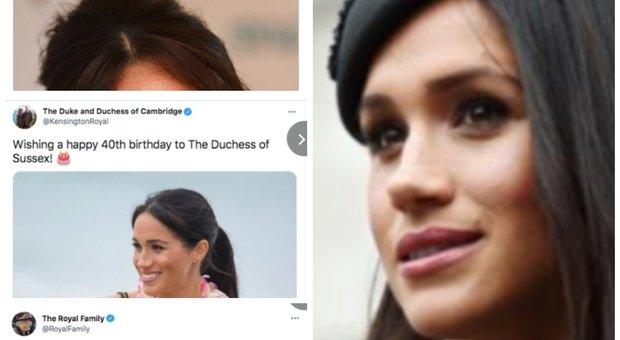 Gli auguri della Royal family su Twitter per la duchessa di Sussex
