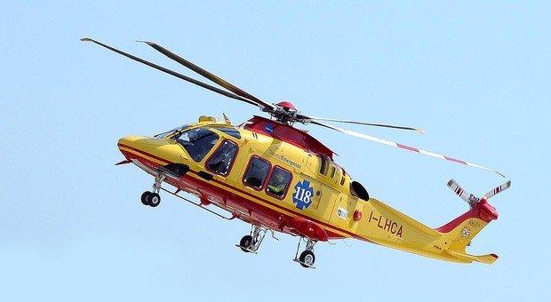 L'elicottero del Suem 118