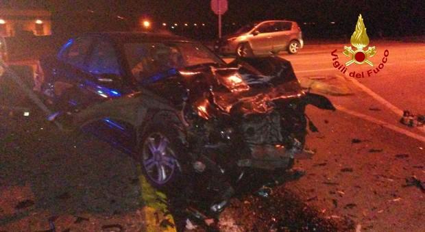 Scontro frontale tra auto, muore un sessantenne di Montagnana