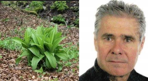 Il 62enne Valerio Pinzana e la pianta incriminata