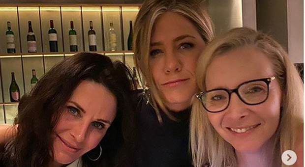Jennifer Aniston, Courteney Cox e Lisa Kudrow (Instagram)