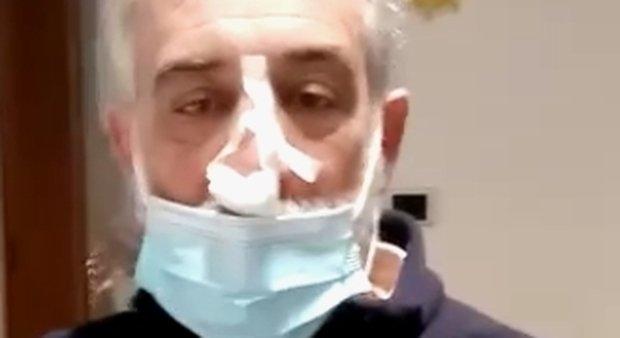 L'imprenditore Antonio Romor è stato medicato al pronto soccorso dell'ospedale