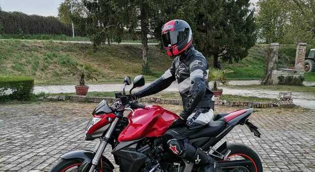 Marco Zerbinati in sella alla sua moto
