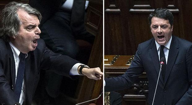 Renzi a Brunetta: «Sei triste perché non hai vinto il Nobel». In Aula scoppia la bagarre