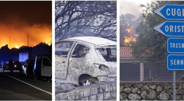 Incendi, maxi-rogo nella notte a Oristano: sfollate quasi 400 persone