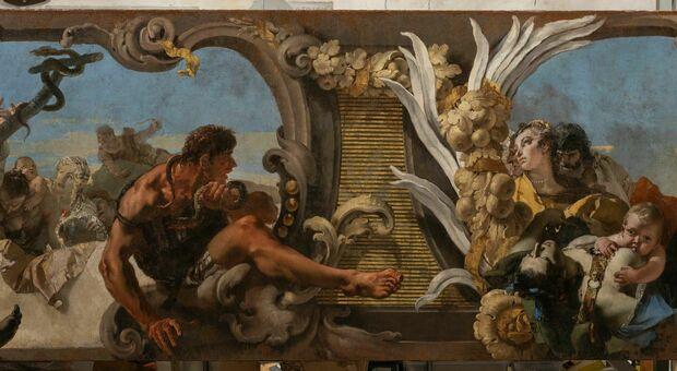 Un particolare dell'opera del Tiepolo (credit Gallerie dell'Accademia - Matteo Fina)