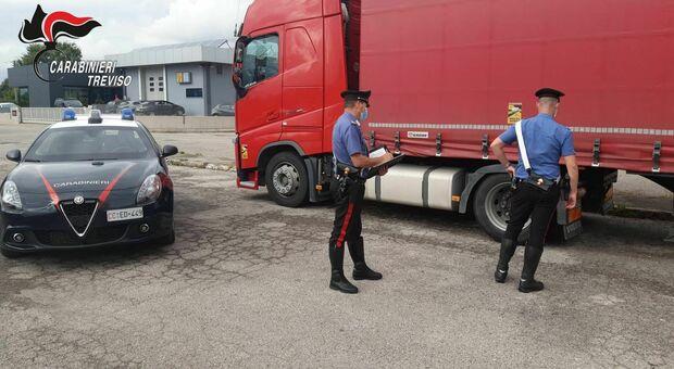 I carabinieri intervenuti a Volpago