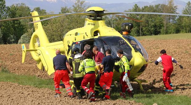 Bimba soccorsa dall'elicottero