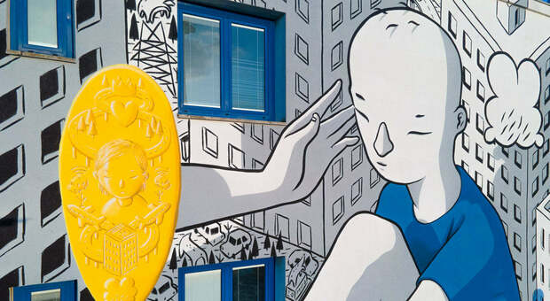 Uno dei murales realizzati la scorsa edizione del festival a Rovigo