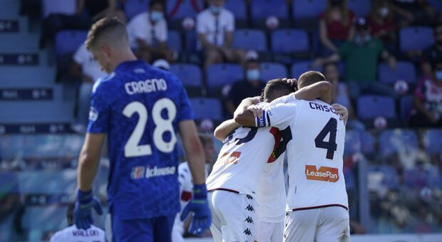 Cagliari-Genoa 2-3: Ballardini porta a casa i primi tre punti, che spettacolo all'Unipol Domus Arena