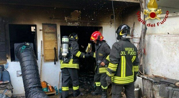 L'intervento dei Vigili del fuoco a Marsure