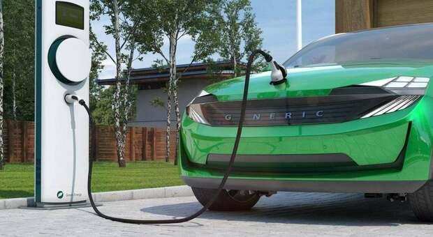 Un'auto elettrica