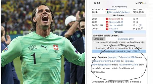 Euro 2020, Sommer elimina la Francia. E su Wikipedia diventa «un eroe mondiale»