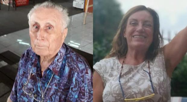 Stellio Cerqueni, 88 anni, e la figlia Doriana