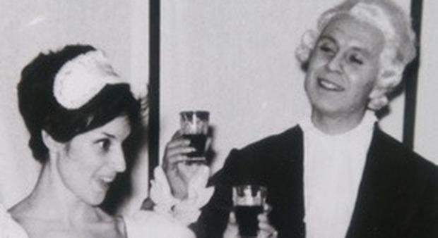 Pietro Rizzardi con Maria Grazia Sereni nella Locandiera, regia di Rodolfo Castiglione, anno 1965.