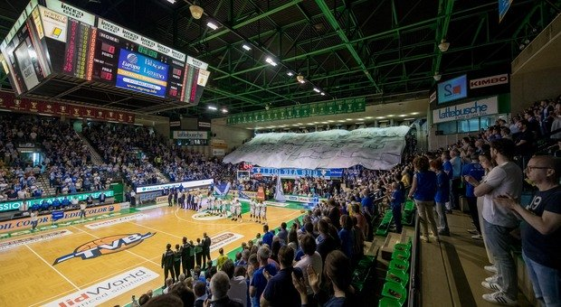 PALAVERDE L impianto di Villorba tornerà a ospitare dopo molti anni una manifestazione europea di basket Con Tvb protagonista
