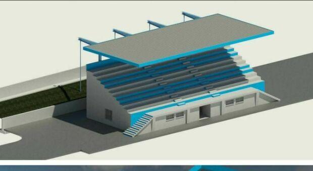 Tribune coperte allo stadio Dorigo: ecco il progetto