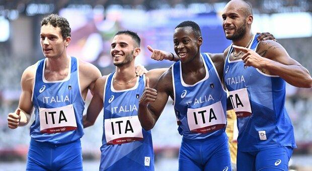La staffetta azzurra 4x100 di Jacobs vola: in finale con record italiano