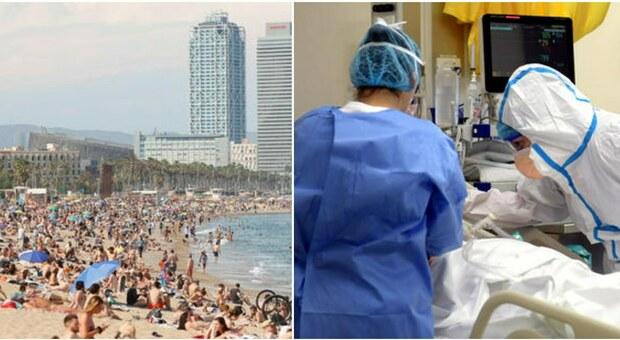 Spagna, 21enne veneto (non vaccinato) torna positivo dalla vacanza a Barcellona: è ricoverato in terapia intensiva