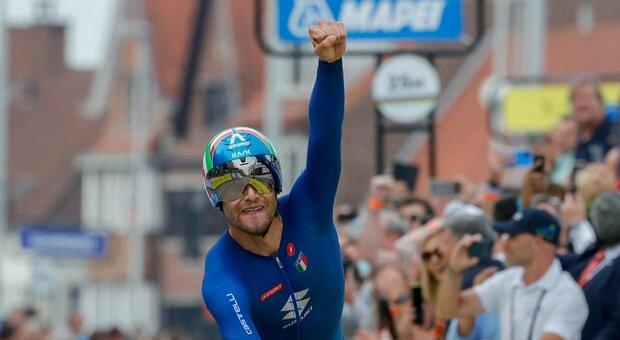 L'Italia di Ganna centra il bronzo mondiale nella staffetta mista