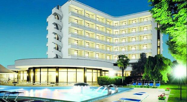 L'hotel Commodore a Montegrotto