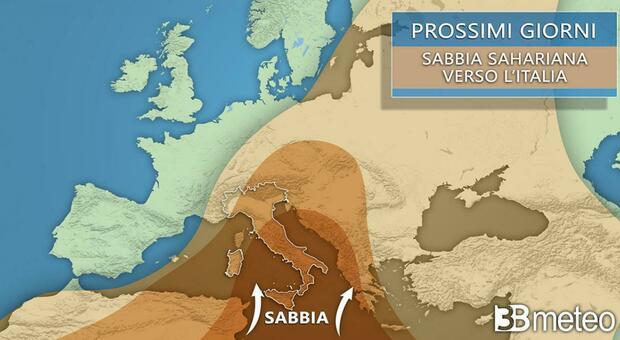 «Cielo giallo, sabbia e cappa di caldo»: ecco quanto durerà l'effetto in Italia