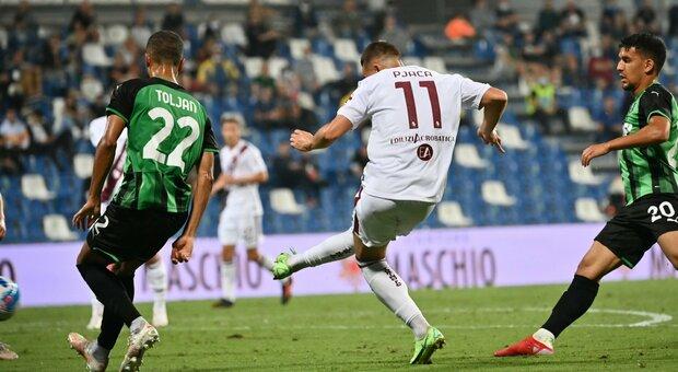 Il Torino surclassa il Sassuolo, due pali e il gol di Pjaca