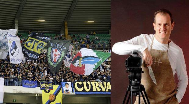La curva dell'Hellas Verona e Fabrizio Nonis
