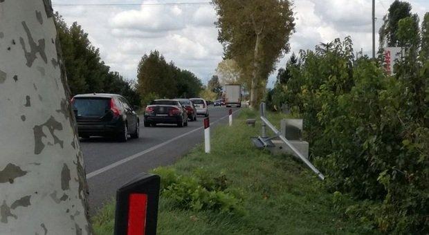 Il punto della strada a Codroipo dove è stato rubato l'autovelox