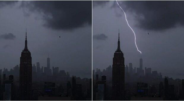 Uragano Henri arriva a New York, fulmine colpisce il One World Trade Center
