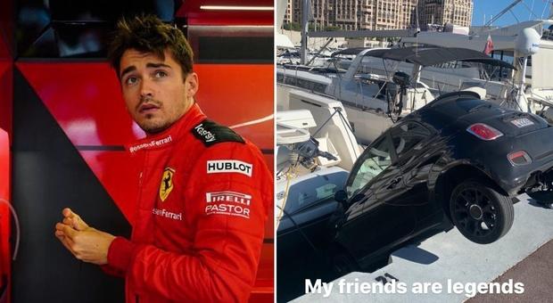 Charles Leclerc, l'auto finisce nel molo: «I miei amici sono leggende»