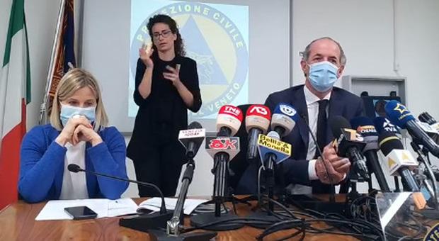 Luca Zaia, in diretta dalla sede della Protezione civile