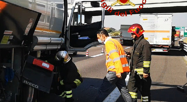 L'incidente sull'autostrada A4