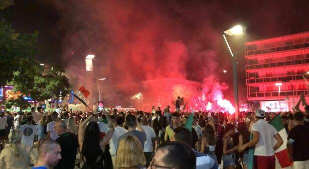 La festa per gli Europei a Jesolo