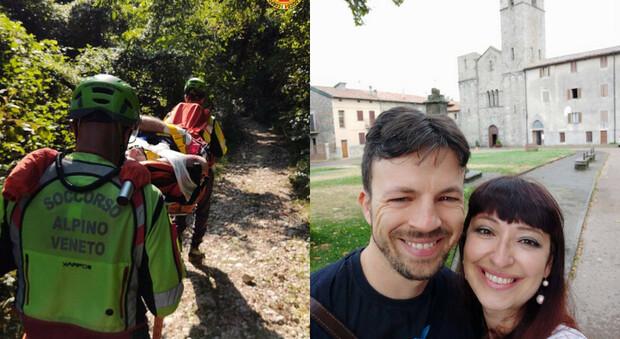 Federico Lugato con la moglie Elena Panciera