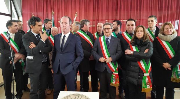 Un'immagine della cerimonia di oggi a Montecchio Maggiore