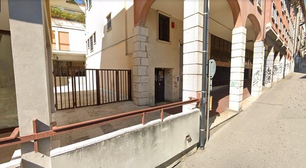 Via Portici Lunghi, dove è avvenuta l'aggressione