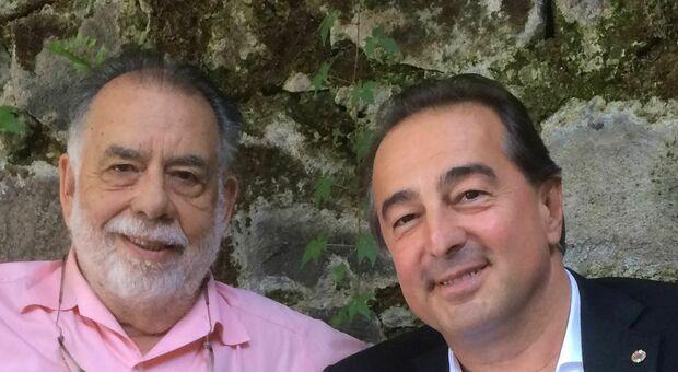 Francis Ford Coppola (a destra) con Sandro Bottega