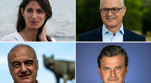 Comunali Roma 2021, i 4 candidati insieme per la prima volta: toni pacati e niente attacchi personali
