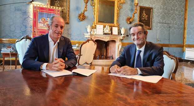 I governatori Luca zaia e Attilio Fontana